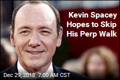 Kevin Spacey Trying to Avoid His Perp Walk