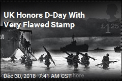 UK Honors D-Day With Very Flawed Stamp