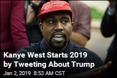 Kanye West Starts 2019 by Tweeting About Trump
