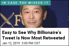 Japanese Billionaire's Tweet Now the Most Retweeted Ever