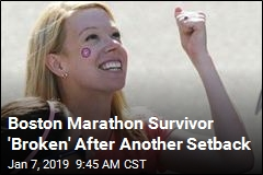 For Boston Marathon Survivor, One More Setback