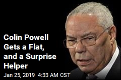 Colin Powell Gets a Flat, and a Surprise Helper