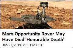 Mars Opportunity Rover May Have Died 'Honorable Death'