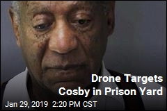 Drone Targets Cosby in Prison Yard