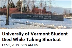 University of Vermont Student Died While Taking Shortcut