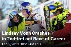 Lindsey Vonn Crashes in 2nd Last Race of Career