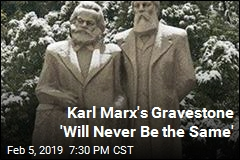 Someone Just Took a Hammer to Karl Marx's Gravestone
