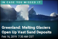 Greenland: Melting Glaciers Open Up Vast Sand Deposits