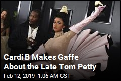 Cardi B Makes Gaffe About the Late Tom Petty