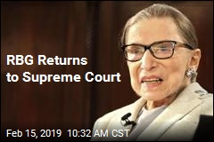 Ruth Bader Ginsburg Returns to Work