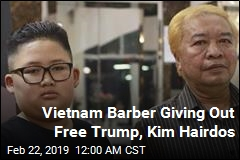 Hanoi Barber Giving Out Free Trump, Kim Hairdos