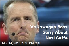 Volkswagen Boss Sorry About Nazi Gaffe