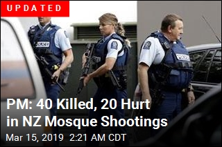 30 Feared Dead in NZ Mosque Shootings