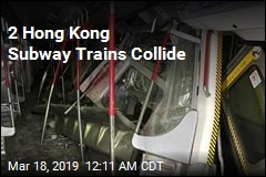2 Hong Kong Subway Trains Collide