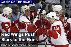 Red Wings Push Stars to the Brink
