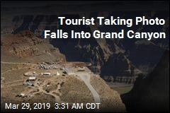 Tourist Taking Photo Falls Into Grand Canyon
