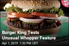Burger King Tests a Meat-Free Whopper