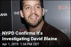 NYPD Confirms It's Investigating David Blaine