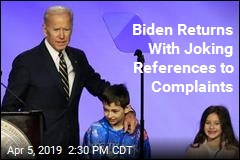 Biden Jokes About Hugging Controversy