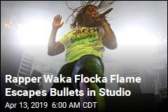 Rapper Waka Flocka Fame Escapes Bullets in Studio