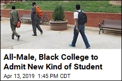 All-Male, Black College to Admit New Kind of Student