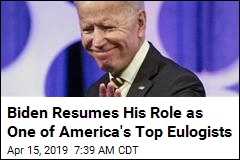 Biden Resumes His Role as One of America's Top Eulogists