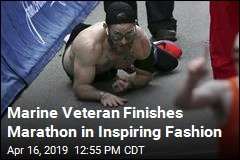 Marine Veteran Finishes Marathon in Inspiring Fashion
