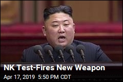 NK Test-Fires New Weapon