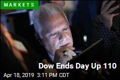 Dow Ends Day Up 110
