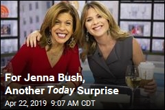 For Jenna Bush, Another Today Surprise