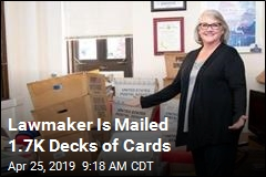 Lawmaker Is Mailed 1.7K Decks of Cards