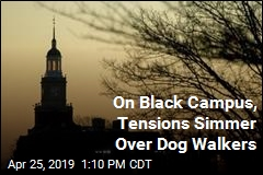 On Black Campus, Tensions Simmer Over Dog Walkers