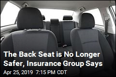 The Back Seat is No Longer Safer, Insurance Group Says