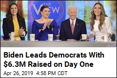 Biden Leads Democrats With $6.3M Raised on Day One