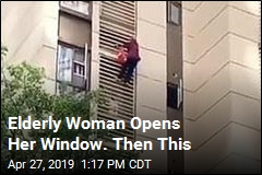 Woman in Her 80s Climbs Down 10 Stories
