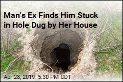 Man Gets Stuck in Hole Dug to Spy on His Ex