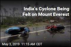 India's Cyclone Being Felt on Mount Everest