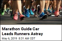 Marathon Guide Car Leads Runners Astray