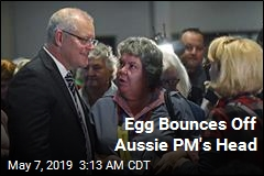 Egg Bounces Off Aussie PM's Head