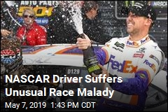 NASCAR Driver Suffers Unusual Race Malady