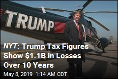 NYT : Trump Tax Figures Show $1.1 in Losses Over 10 Years