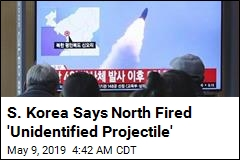 S. Korea Says North Fired 'Unidentified Projectile'