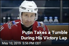Putin Takes a Tumble During His Victory Lap
