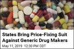 States Bring Price-Fixing Suit Against Generic Drug Makers