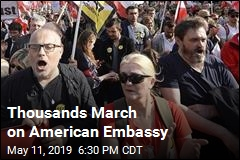 Thousands March on American Embassy