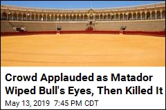 Crowd Applauded as Matador Wiped Bull's Eyes, Then Killed It