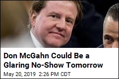Don McGahn Could Be a Glaring No-Show Tomorrow