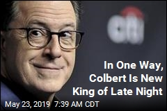 Colbert Notches Win for CBS It Hasn't Seen Since Letterman