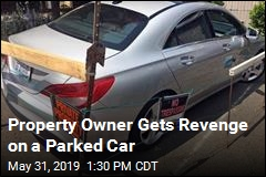 Property Owner Gets Revenge on a Parked Car