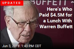 Someone Paid $4.5M for a Lunch With Warren Buffett